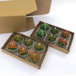 Promoción de la Cera divertidos Cactus Color plantas de flores velas personalizadas para embarcaciones