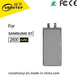 Batería del teléfono móvil de alta calidad de materiales, para el Samsung S7, 494088, 2800mAh, la fábrica de accesorios personalizados