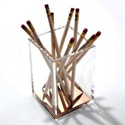 Rose Gold Square Acrylic pen Vulpotlood houder