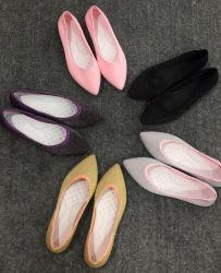 صاحب مصنع نساء ليّنة مسطّحة جورب أحذية مع مطاط, أحذية طازج, سيادة [كسول شو], لا غراءة ولا أثر يخاط أحذية