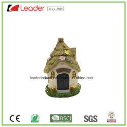 おもちゃの家の装飾のための新しい妖精の庭の樹脂の草の家の彫像