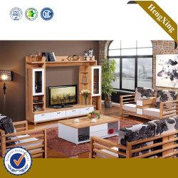 غرفة معيشة خشبية معدة خصيصا وأثاث غرفة معيشة وتلفاز كابينة