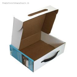 Cor impressa a alavanca da caixa de embalagem dobrável