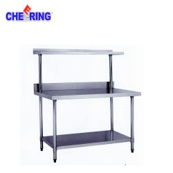 Assembing banqueta mesa de cocina de acero inoxidable con estante Workbench