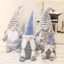 Decoração de Natal Enfeites de Natal Santa Claus Enfeites de cor cinza