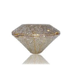 Tendencia 2020 vestidos de la personalidad de diamantes de lujo en plena noche de bodas de cristal Bolsa llena Rhinestone señoras bolsas de embrague