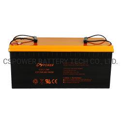 Cspower IEC 태양 전지판 System/UPS 백업 건전지 Maitnenace 재충전 전지를 위한 승인되는 12V200ah Accumulators/12V 48V 태양 납축 전지