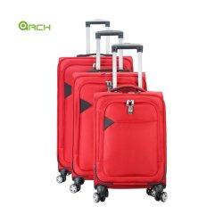 Nueva moda de la fábrica China de poliéster mayorista//PU/nylon impermeable Soft/Peso ligero de equipaje de viaje Trolley Set Maleta de laminación con Link-to-Go System