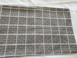 家の織物のための灰色の正方形の寝具の生地のキルトカバー