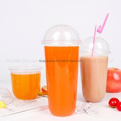 찬 음료/주스/콜라 밀크 셰이크 또는 거품 우유 차를 위한 주문을 받아서 만들어진 로고 처분할 수 있는 플라스틱 컵
