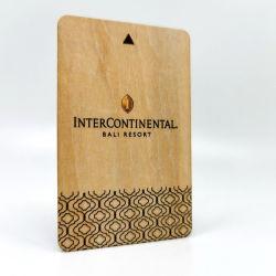 Hölzerne RFID Bambuskarte Holz der Laserdruck Zugriffssteuerung