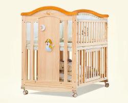 Neuer Entwurf Mulitfuntion hölzerne Baby-Feldbett-Baby-Krippen mit 2 unter Fach-Baby-Bett