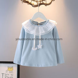 Primavera/Otoño Niña camisa azul Blusa mayorista