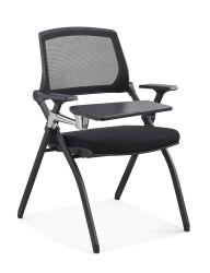 Стек в подлокотнике складная школа домашнего офиса сетки для посетителей стул профессиональной подготовки сотрудников гостевой стул мебель с Блокнота D825