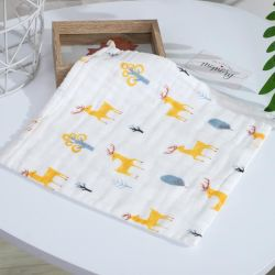 工場卸売超静かに100%の有機性綿モスリンの綿の赤ん坊のWashclothの表面タオルの快適な使用低いMOQの赤ん坊の表面タオル