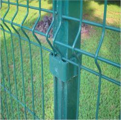 住宅の緑PVCは溶接された金網の塀のパネルを保護する3D安全に塗った