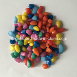 La grava del acuario rocas decorativas Mini Rainbow guijarros piedra decorativa piedras