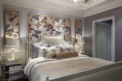 Ultimo legno solido cinque stelle con la mobilia moderna della camera da letto dell'hotel del comitato impiallacciata legno (EMT-SKB03)