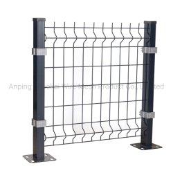 3D black columna larga valla de malla de alambre alambre doblado