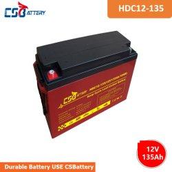 Csbattery 12V 135ah Energie-Speicherung Leitungskabel-Kohlenstoff-Batterie für Automobil/Motor-Beginnen,/Energie-Hilfsmittel/Solar-Panel/Gabelstapler