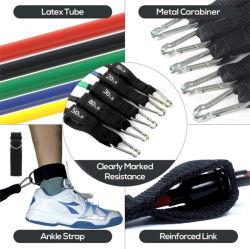 11 ПК Установите сопротивление полосы осуществлять тренировки Йога Crossfit спортивная подготовка трубок