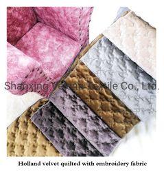 Stof van het Meubilair van de Stoffering van het Huis van Quliting van het Borduurwerk van het Fluweel van Holland de Naaiende Textiel voor het Jasje van het Hoofdkussen van de Bank