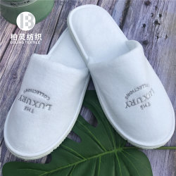 Hoteles de lujo zapatillas desechables de alta calidad Terry zapatilla terciopelo Logotipo personalizado