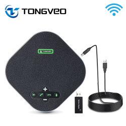 Na200G Wireless Conferenciante con dispositivo de idea para el hogar de 360 grados de la oficina de recogida de Voz 4 Ai Eco&Noise Canceling micrófonos USB altavoz manos libres con Aux