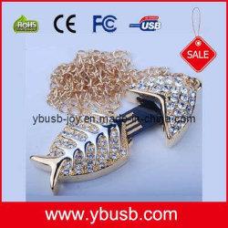 Золотой рыбкой украшения USB (YB-97)