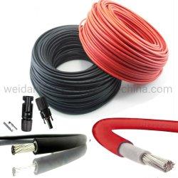 H1Z2Z2-K, Red/Black 솔라 태양광 PV 케이블, 4mm2, 6mm2, MC4 커넥터 포함