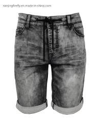 Образом растянуть тканого трикотажные джинсы мужские шорты (F066)