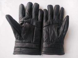 Guanti del driver del cuoio delle pecore nere con il panno morbido all'interno del fornitore reale della Cina dei guanti di cuoio dei guanti caldi di inverno