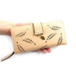 Fabricant de blocage de la RFID haute mode Classique Lady sac cuir synthétique femmes portefeuille avec logement de carte de crédit et de support téléphone Pocket