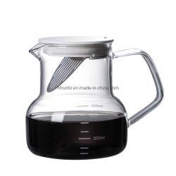 製造業者のふたの世帯のコーヒーガラスの鍋が付いているガラスコーヒー鍋のコーヒーセット