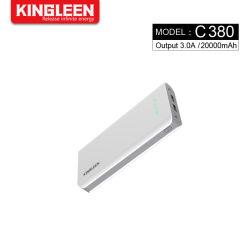 Aufladeeinheit der große Kapazitäts-Energien-Bank-20000mAh bewegliche Doppel-USB-Ausgabe-externe Handy-Batterie mit LED-Licht für iPhone Samsung
