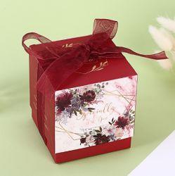 Boîte de papier de petit carré de sucre de Noël de mariage boîte cadeau pour la vente de papier