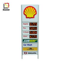 L'essence Prix DEL d'affichage de publicité Conseil signe directionnelle de la route de la station de gaz de la conception d'auvent