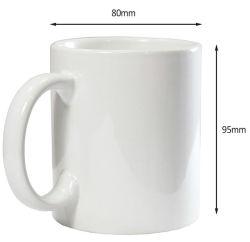 11oz de cerámica/porcelana estándar para sublimación tazas personalizadas con Logo