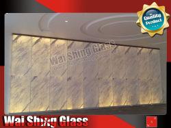 12mm o 15mm bajo el hierro con vidrio templado Vidrio Laminado de mármol de 4 mm para ascensor Hall