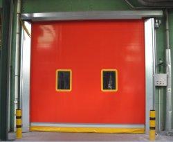 ゴム製PVCビニールファブリックは縦のオーバーヘッドが巻くShtterの高速のドアを転送する速く機能の速い圧延のクリーンルームの急速な自動産業ガレージを畳む