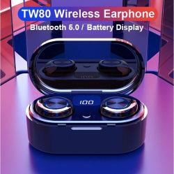 工場OEM Tws 5.0耳のタイプCケースKcのセリウムのBluetoothのヘッドセットのハイファイ低音の無線Earbudsのヘッドセットのヘッドホーン