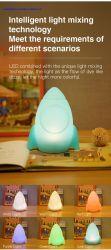 Светодиод таблица пластиковые лампы RGB красочные светодиодный Ночник с мягким силиконовым герметиком Lampshape для малыша Детские игрушки