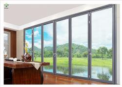 Оптовая торговля звуконепроницаемые стекла адаптированные алюминиевых профилей записи Bifold окна и двери складная Windows и раздвижных дверей на экране фальцовки