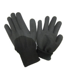 Resistente ao frio revestidos de nitrilo com luvas de lã acrílica Traseiro