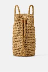 Sacchetto dello zaino del Crochet tessuto paglia di carta