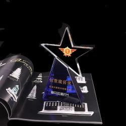 Venta caliente logro Premio Trofeo de cristal personalizado