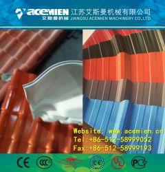 Resina sintética Telha vidrada fazendo a máquina/ máquina de fazer da chapa de tejadilho de Papelão Ondulado/ telhado trapezoidal linha de processamento de folhas