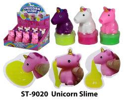 점액 장난감을%s 가진 재미있은 점액 짜기 Unicorn