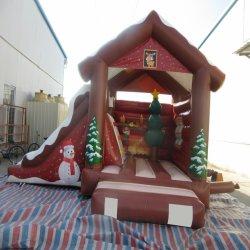 販売のための巨大で膨脹可能なクリスマスの警備員そしてスライド
