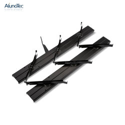 Lames en aluminium de grande taille de gros cadre noir